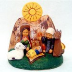 Presepe terracotta con sole