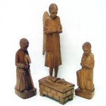 Presepe legno 4 figure