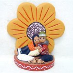 Presepe terracotta fiore