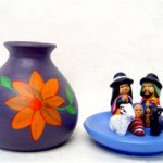 Presepe terracotta in vaso