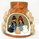 Presepe in vaso terracotta