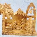 Presepe legno ulivo campana_2
