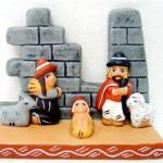 Presepe terracotta con muro