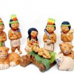 Presepe terracotta indio 9 figure