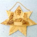 Presepe stella legno ulivo