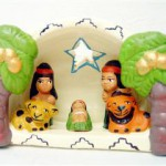 Presepe terracotta indio
