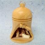 Presepe legno ulivo campana