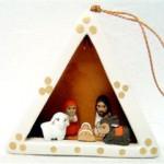 Presepe terracotta triangolo