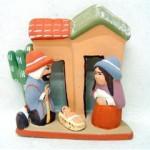 Presepe terracotta doppia casa