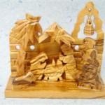 Presepe legno ulivo campana_1