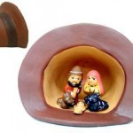 Presepe terracotta in cappello andino