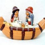 Presepe terracotta barca
