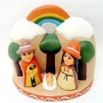 Presepe terracotta arcobaleno