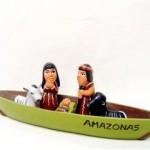 Presepe terracotta indio in barca